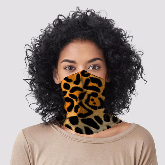 Leopard Animal Print Neck Scarf Face Covering BAND21