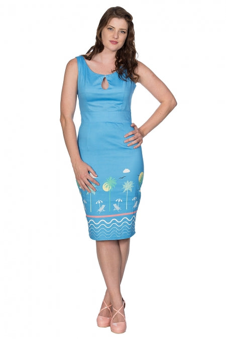 Banned Clothing - Women's 50s Holiday Wiggle Pencil
