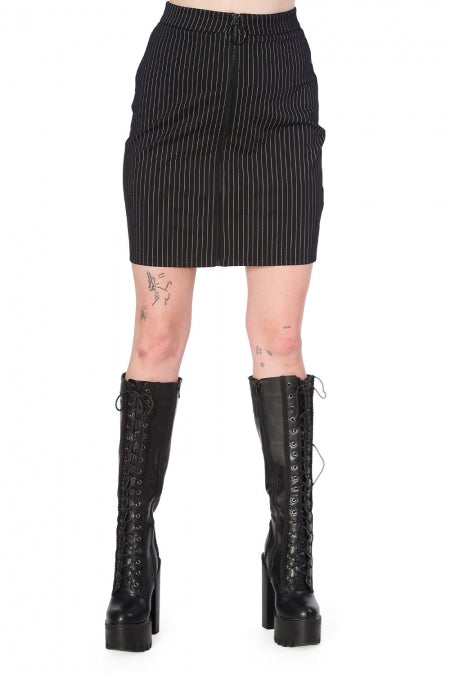 Banned Clothing - Women's Cold Wave Bodycon Skirt