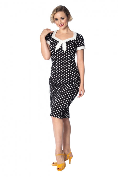 Banned Clothing - Women's Polka Love Wiggle Dress