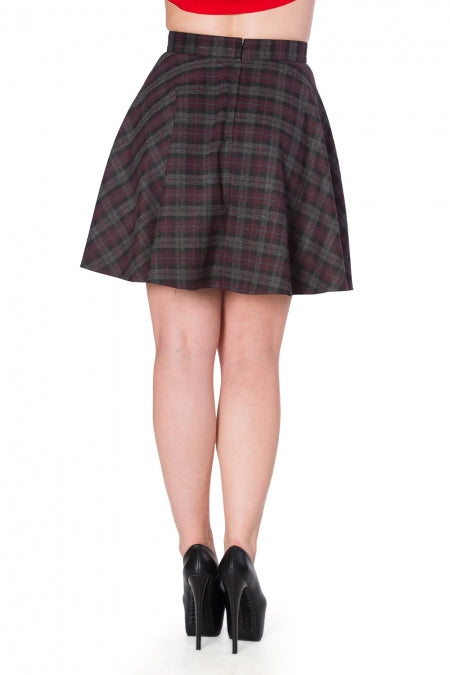 Banned Clothing - Women's Rock Check Flared Skirt
