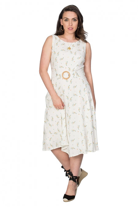 Banned Clothing - Women's Spring Sprig Wrap Back Dress