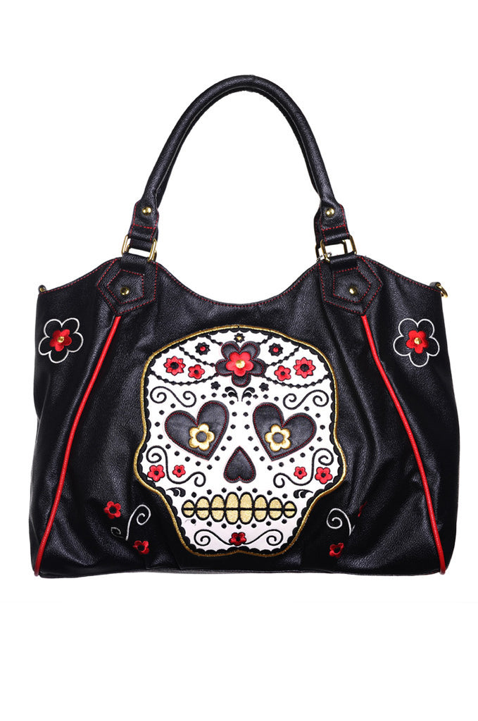 Banned Clothing - Sugar Skull Shoulder Bag - Egg n Chips London