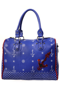 Banned Clothing - Blue Anchor Handbag - Egg n Chips London