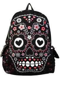 Banned Clothing - Sugar Skull Backpack - Egg n Chips London