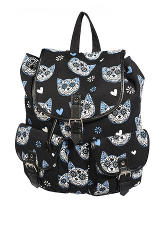 Banned Clothing - Blue Kitty Backpack