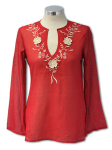 Dead Threads - Women's Red Split Neckline Top