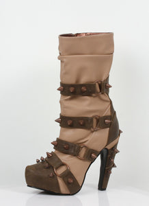 Hades Shoes - Bjorn Tan Steampunk Booties - Egg n Chips London