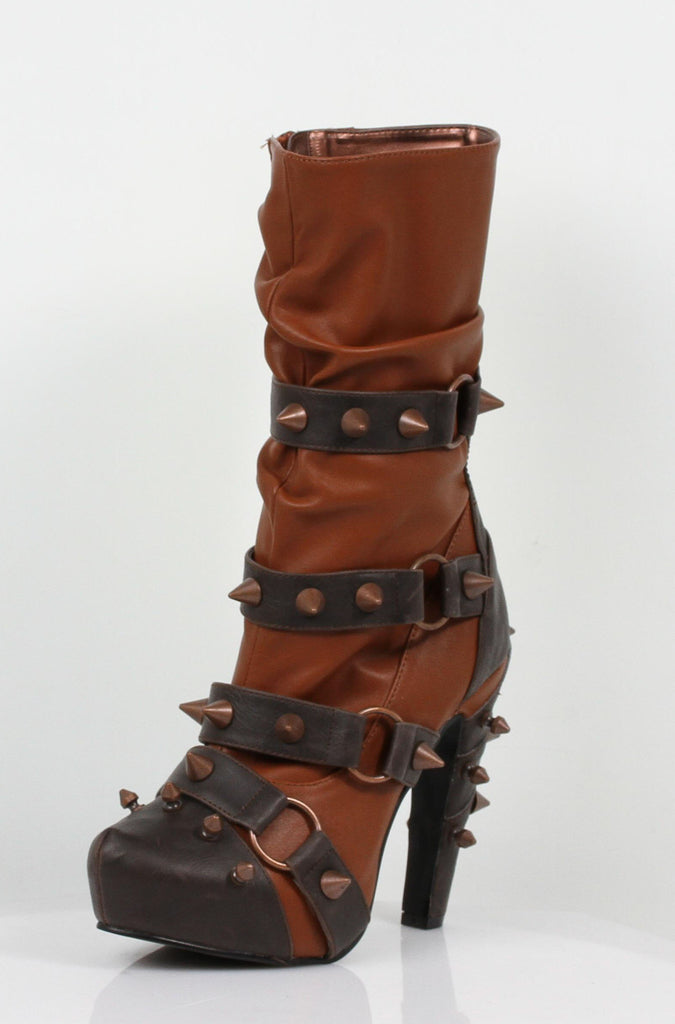 Hades Shoes - Bjorn Brick Studded Boots