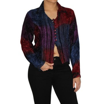 Dead Threads - Women's Tie and Dyed Velvet Collared Blouse