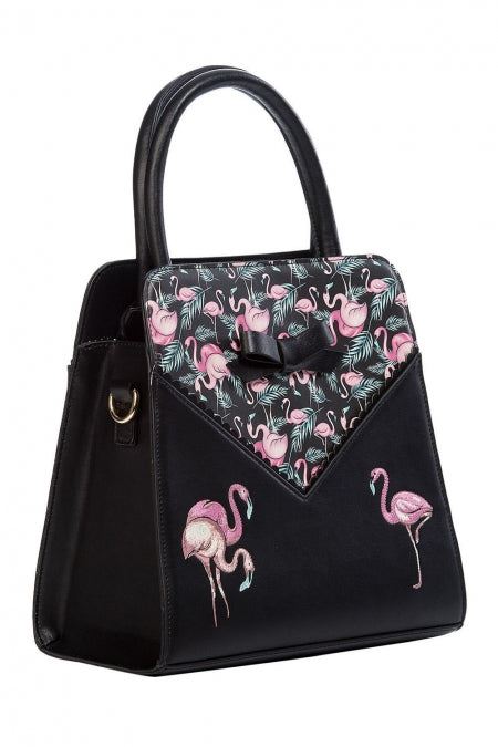 Banned Accessories -Deluxe Flamingos Handbag