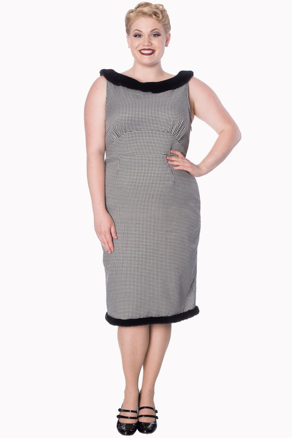 Banned Apparel - Izzy Pencil Dress Plus Size - Egg n Chips London