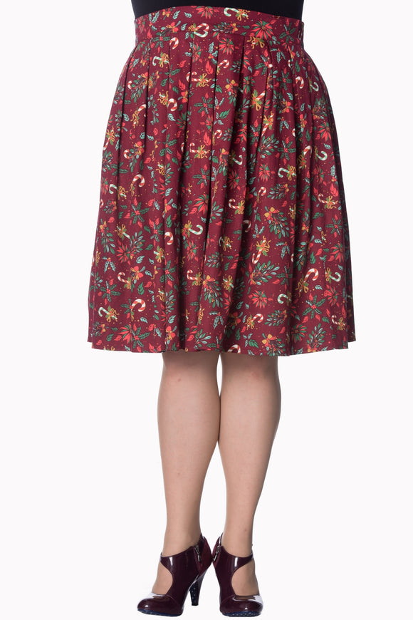 Banned Apparel - Autumn Leaves Skirt - Egg n Chips London