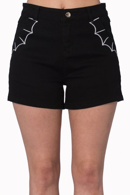 Banned Apparel - Bell Tower Bat Shorts - Egg n Chips London