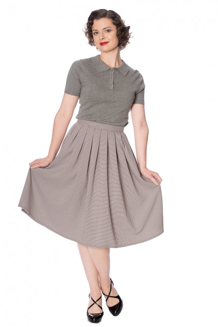 Banned Clothing - Betty Check Pleat Skirt