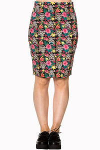 Banned Apparel - Black Brooke Pencil Skirt - Egg n Chips London