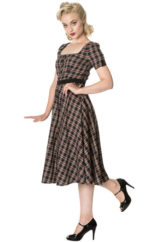 Banned Apparel - Black Elvis Ain't Dead Swing Dress
