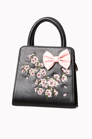 Banned Apparel - Black Floral Bag