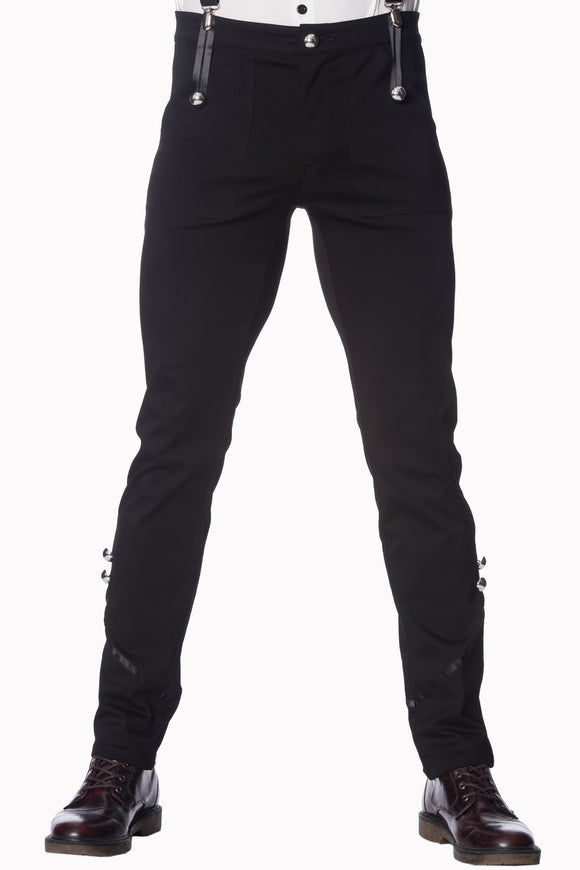 Banned Apparel - Black Trouser - Egg n Chips London