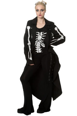 Banned Apparel - Bones And Fire Long Line Jacket