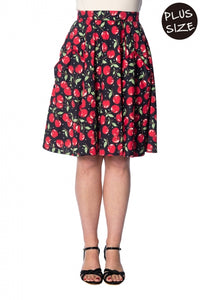 Banned Apparel - Cherry Soda 50s Pocket Skirt Plus Size