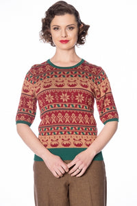 Banned Clothing - Christmas Pud Jumper
