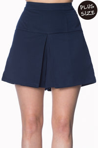 Banned Apparel - Cindy Navy Short Plus Size - Egg n Chips London