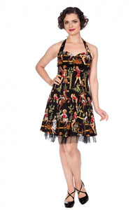 Banned Apparel - Cowgirl Halter Flare Dress