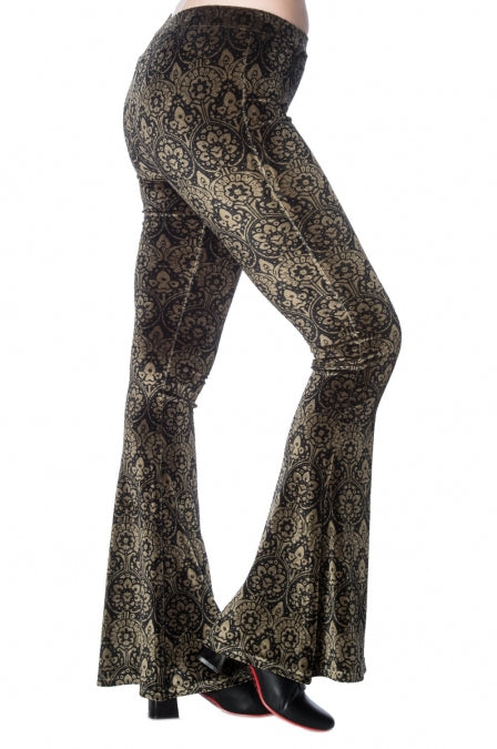 Banned Apparel - Damask Bell Bottoms
