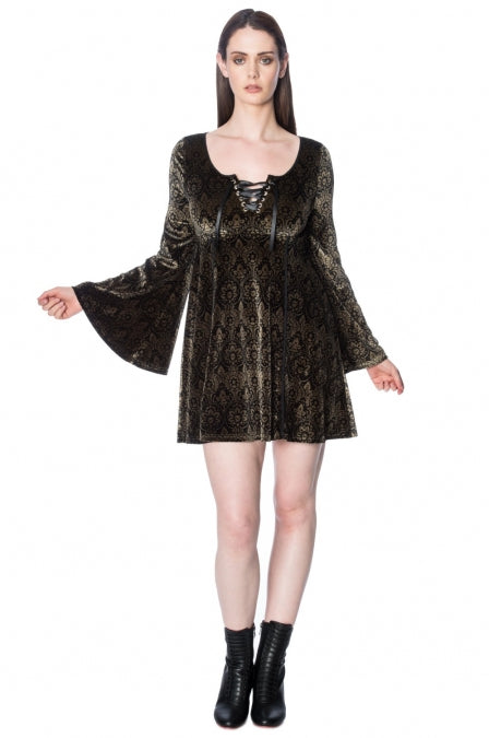 Banned Apparel - Damask Flared Dress