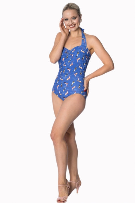 Banned Apparel - Dive In Halter Swimsuit