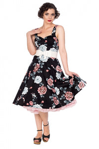 Banned Apparel - Evening Garden Dress Black