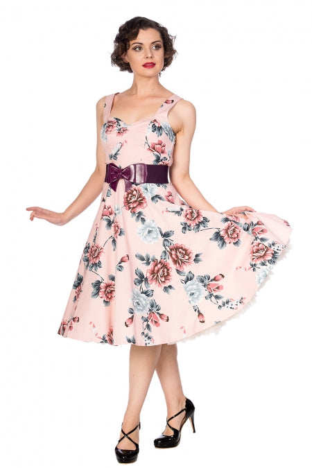Banned Apparel - Evening Garden Dress Pink