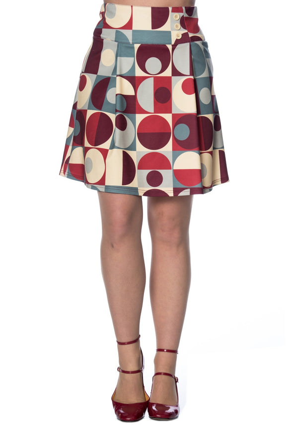 Banned Apparel - Geo Circles Skirt