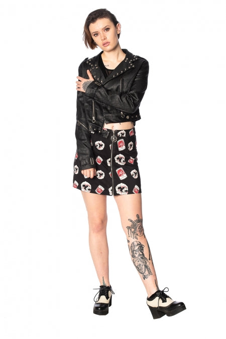Banned Apparel - Glampire Bodycon Skirt