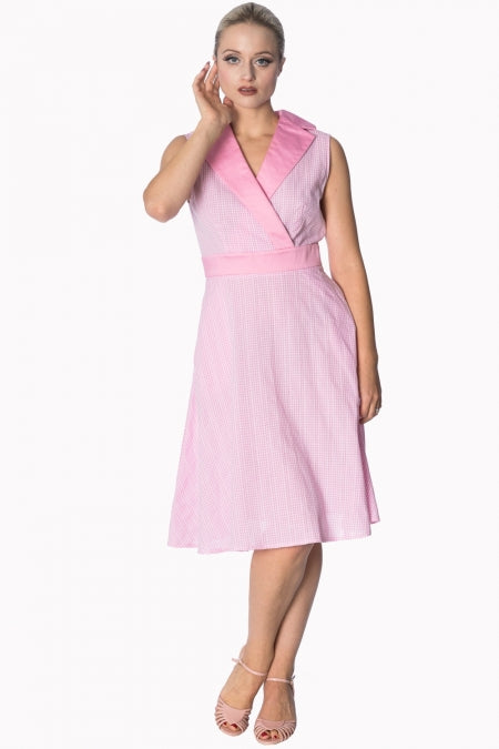 Banned Apparel - Grease Gingham Pink Dress