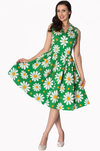 Banned Apparel - Green Crazy Daisy Shirtdress