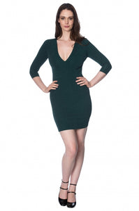 Banned Apparel - Green With Envy Glitzy Dress