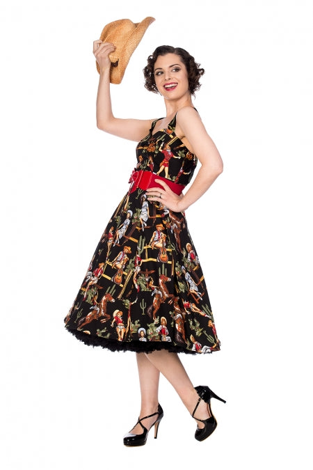 Banned Apparel - Howdy Partner Flare Dress