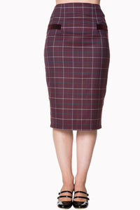 Banned Apparel - Izzy Pencil Skirt - Egg n Chips London