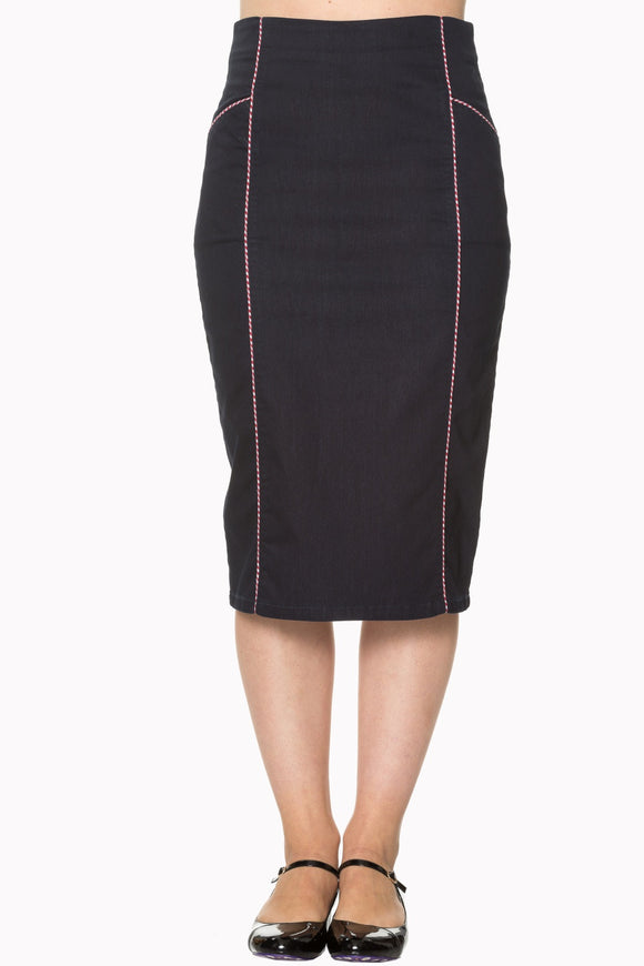 Banned Apparel - J'adore Pencil Skirt - Egg n Chips London