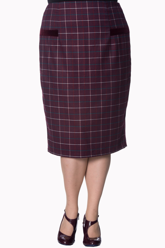 Banned Apparel - Maddy Pencil Plus Size Skirt - Egg n Chips London
