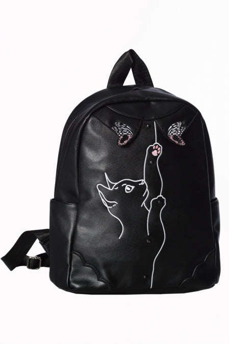 Banned Apparel - Meow Backpack - Egg n Chips London