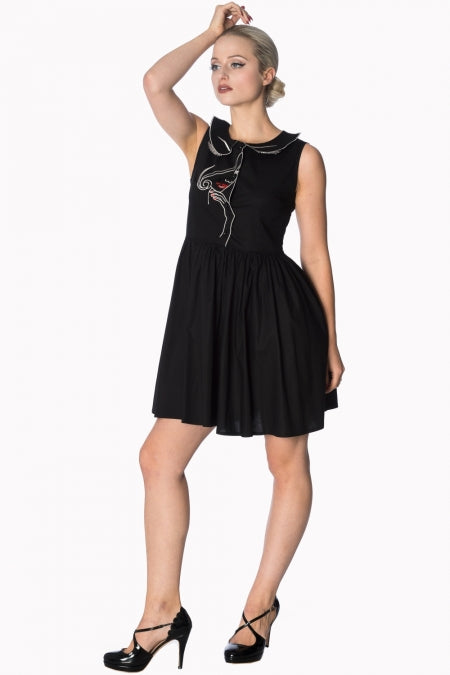 Banned Apparel - Model Face Black Dress