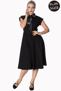 Banned Apparel - Model Face Longer Dress Plus Size