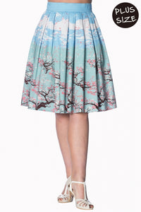 Banned Apparel - Oriental Blossom Skirt Plus Size