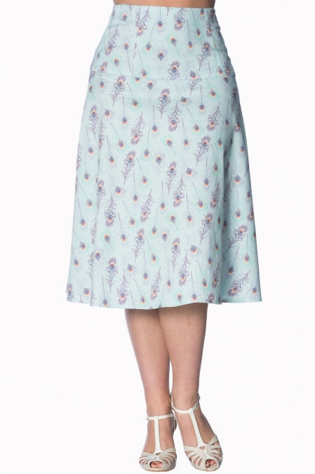 Banned Apparel - Peacock A-Line Skirt