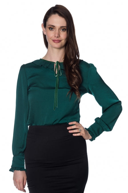 Banned Apparel - Perfect Pleat Collar Top