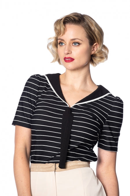 Banned Apparel - Pier Stripe Jersey Top