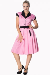 Banned Apparel - Pink Grease Dress